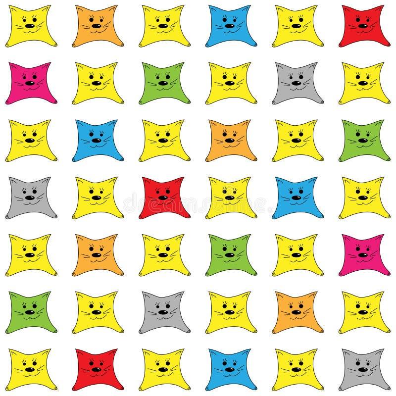 Achtergrond met gekleurde katjes stock illustratie