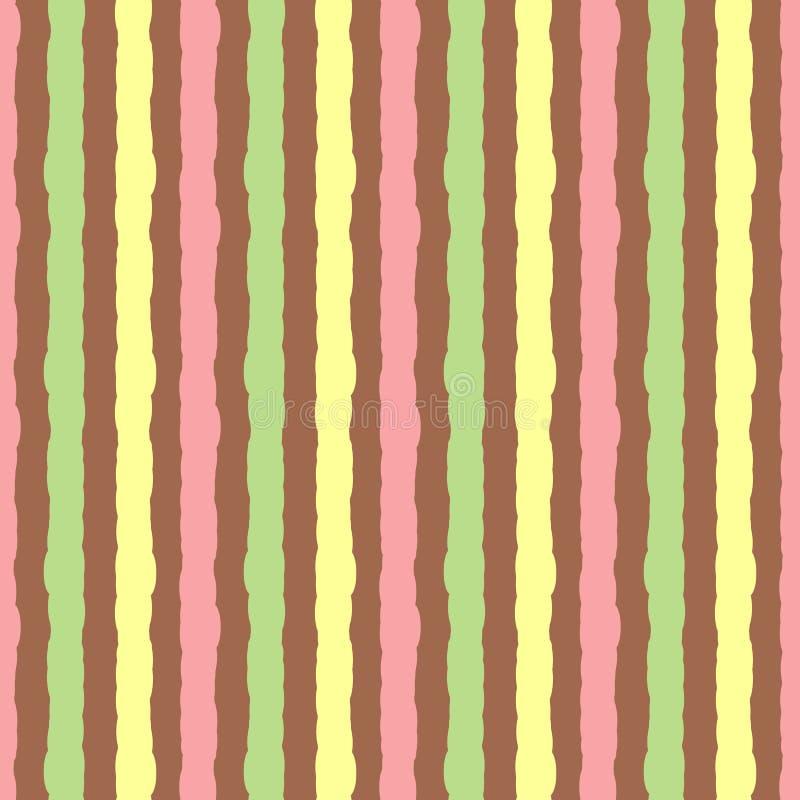 Achtergrond met gekleurde verticale strepen Het naadloze patroon schilderde ruwe borstel royalty-vrije illustratie