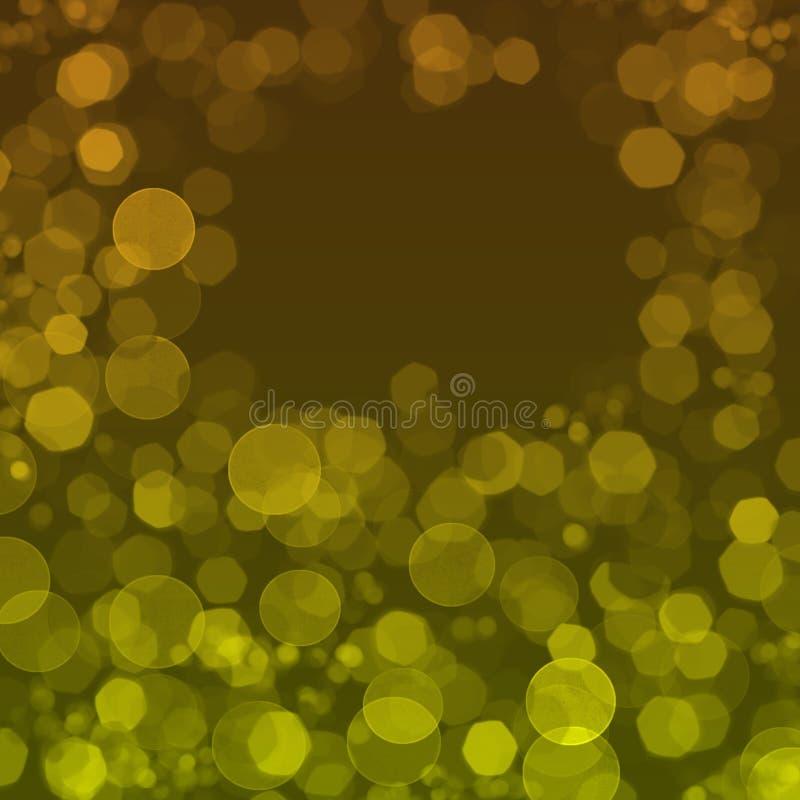 Achtergrond met gele cirkels stock afbeeldingen