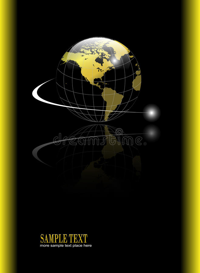 Achtergrond met gouden bol vector illustratie