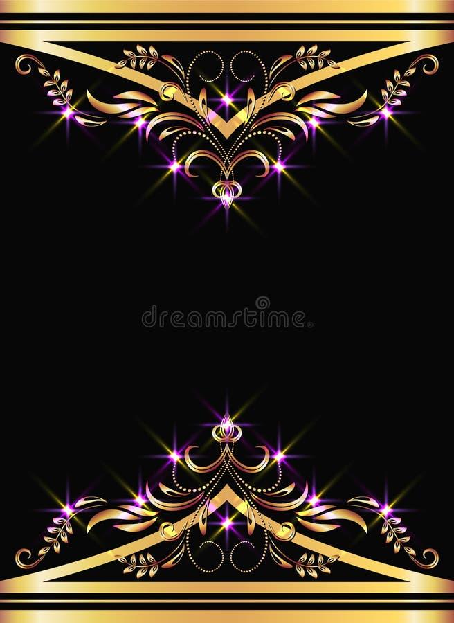 Achtergrond met gouden ornament vector illustratie