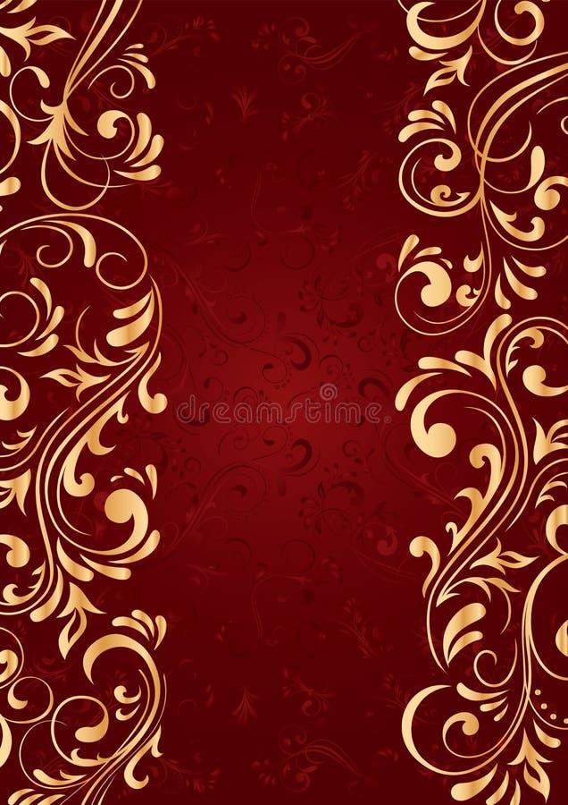 Achtergrond met gouden verticaal patroon royalty-vrije illustratie