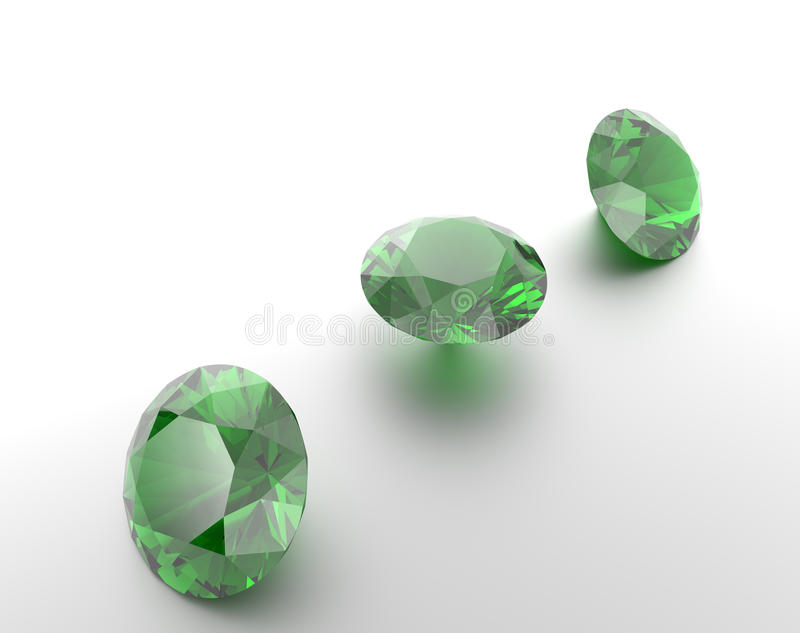 Achtergrond met groene halfedelstenen 3D Illustratie vector illustratie