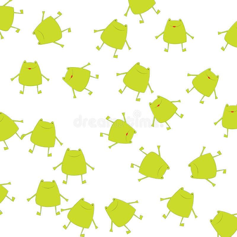 Achtergrond met groene kikkers vector illustratie