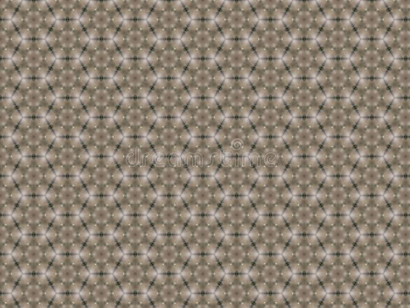 Achtergrond met het herhalen van patroon van een zeshoek met gevlecht patroon van vergulde draden stock illustratie