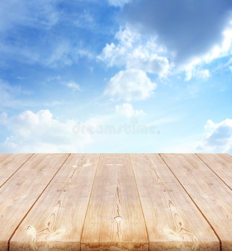 Achtergrond met houten planken stock foto
