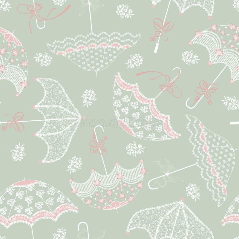 Achtergrond met huwelijk parasols royalty-vrije illustratie