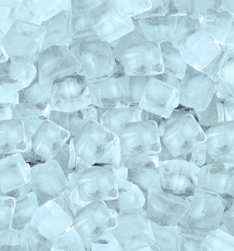 Achtergrond met ijsblokjes blauw licht stock afbeeldingen