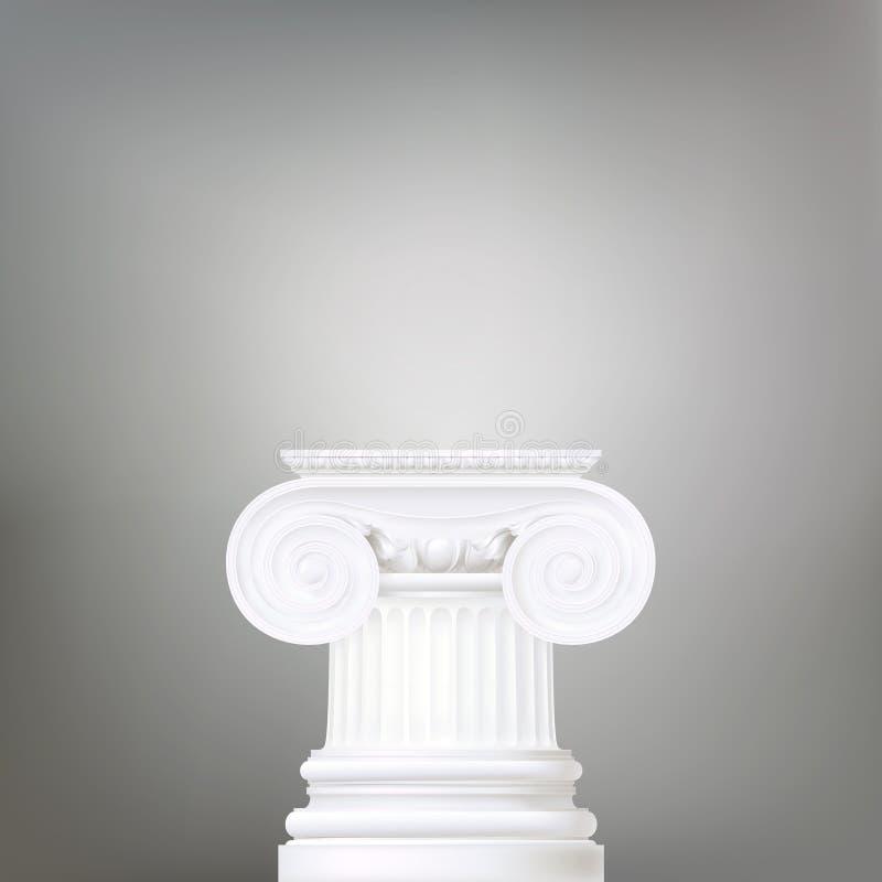 Achtergrond met Ionische kolom royalty-vrije illustratie