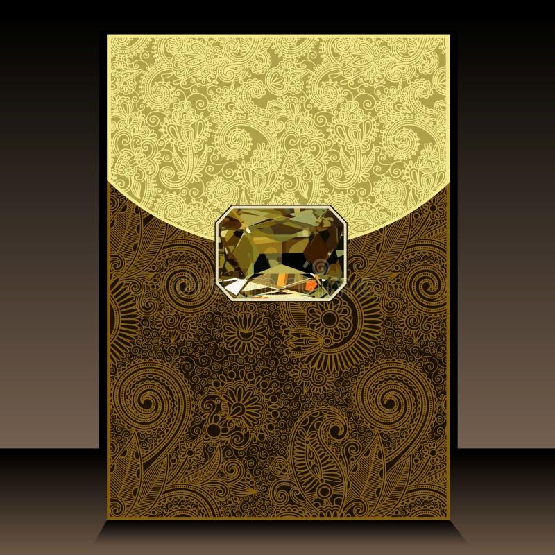 Achtergrond met juweel royalty-vrije illustratie