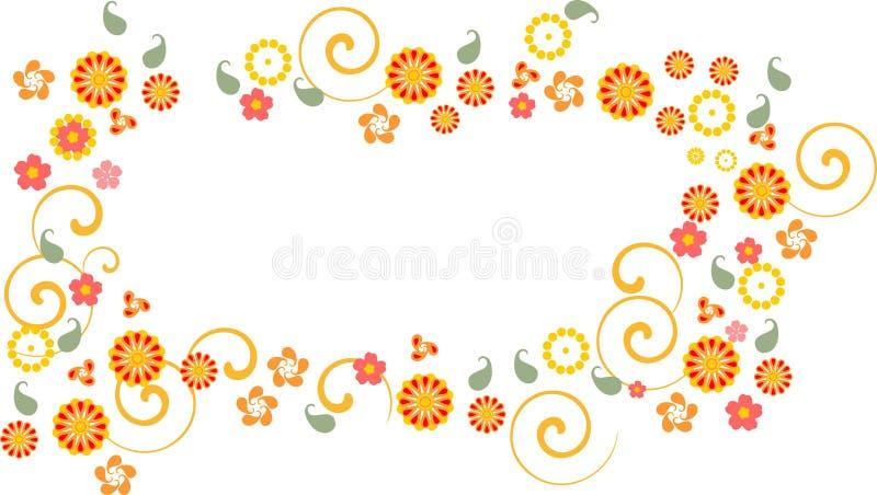 Achtergrond met kleurrijke fowers royalty-vrije illustratie