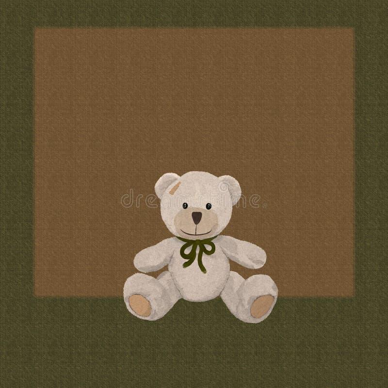 Achtergrond met leuke teddybeer stock illustratie
