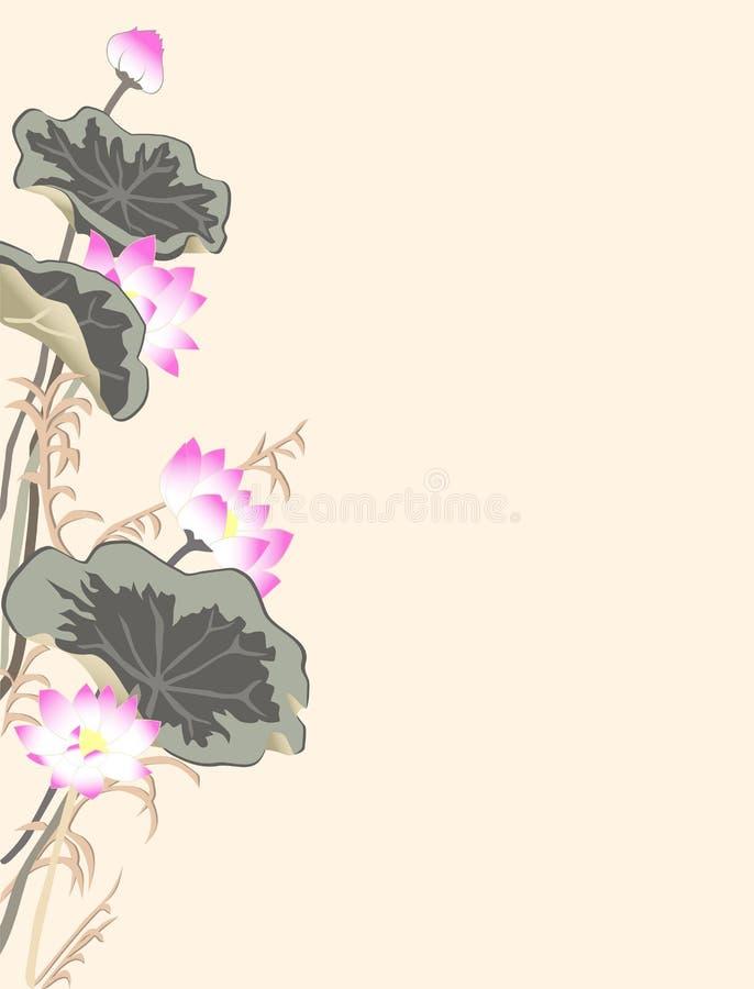 Achtergrond met lotusbloem stock afbeeldingen