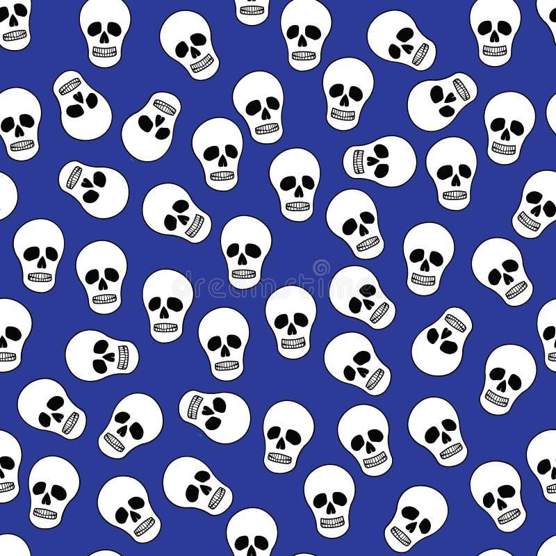 Achtergrond met menselijke schedels stock illustratie
