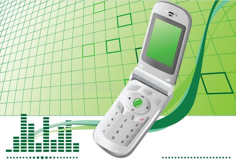 Achtergrond met mobiele telefoon   royalty-vrije illustratie