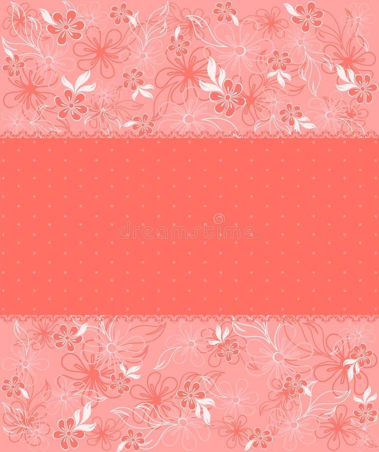 Achtergrond met mooie bloemen stock illustratie