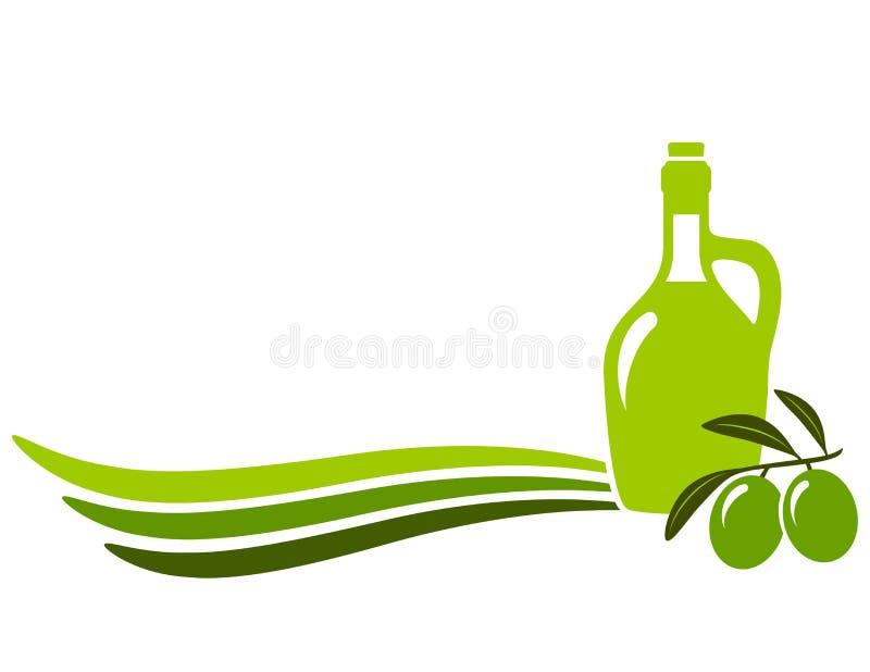 Achtergrond met olijfolie vector illustratie