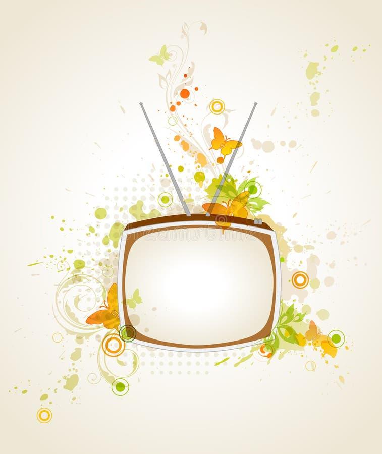 Achtergrond met retro TV stock illustratie