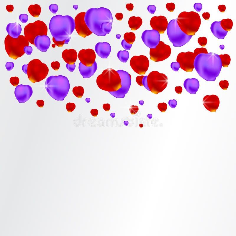 Download Achtergrond Met Rode En Purpere Bloemblaadjes Vector Illustratie - Illustratie bestaande uit elegant, groeten: 29502966