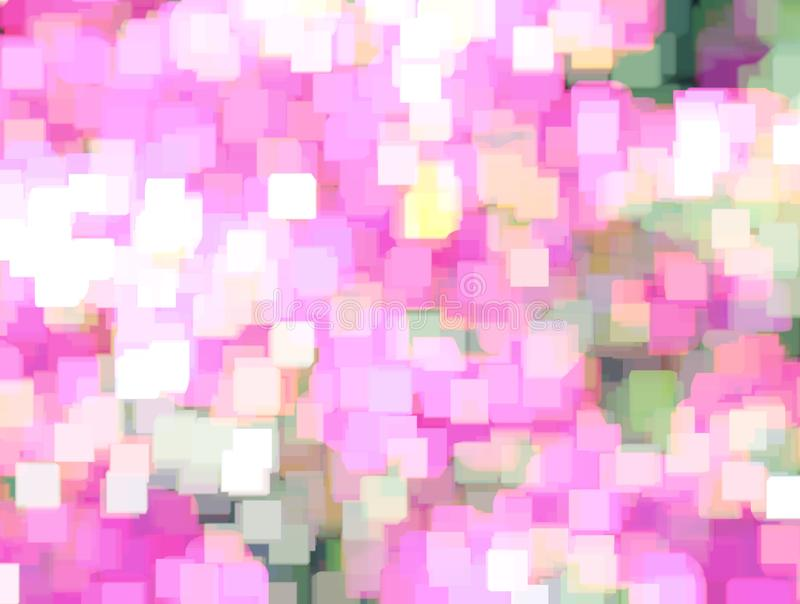 Achtergrond met samenvatting vage bloemazalea in weide en helder de zomerzonlicht Kan als behang gebruiken, ontwerpen De fee defo stock foto