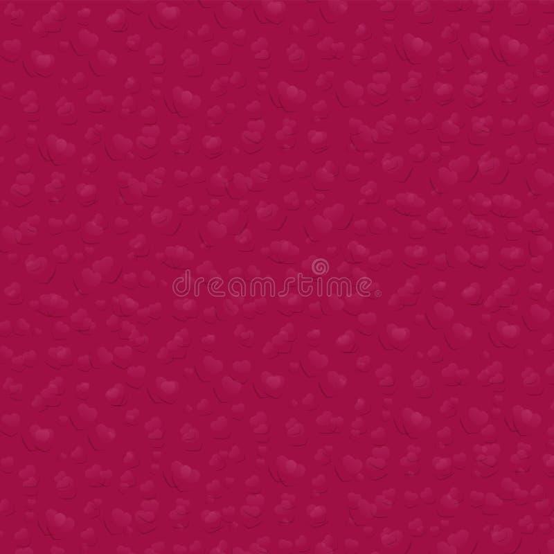 Achtergrond met schaduw van harten Vector illustratie vector illustratie