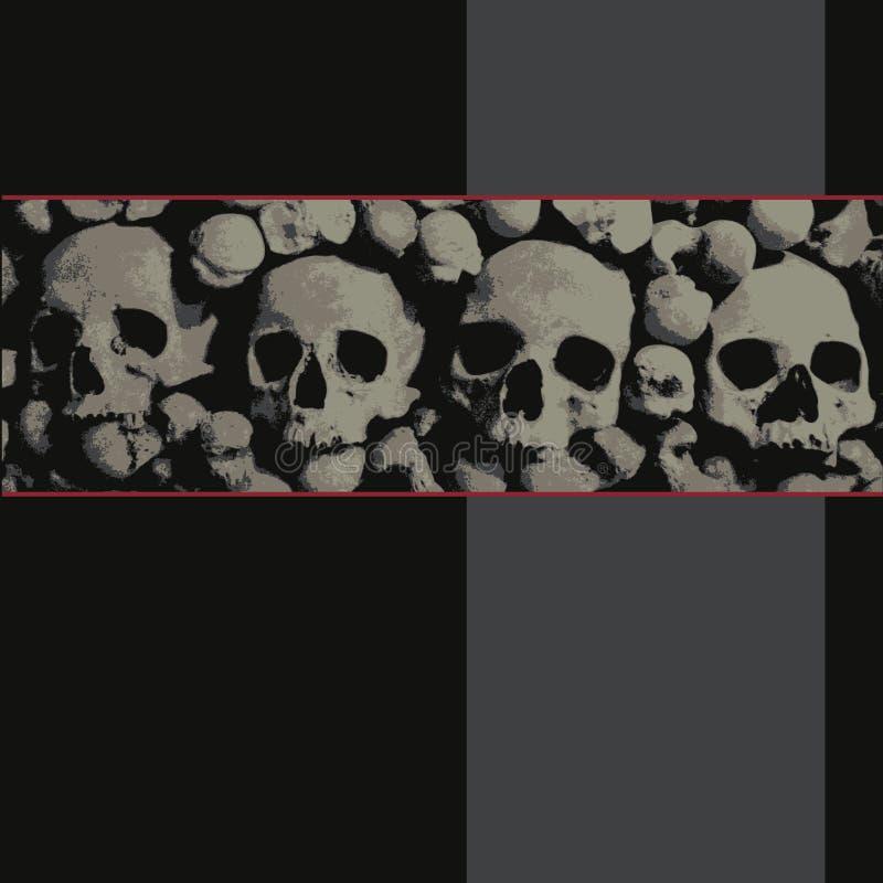 Achtergrond met schedels stock afbeelding
