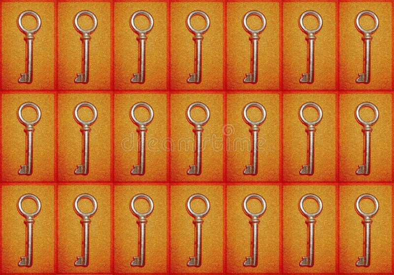 Achtergrond met sleutels royalty-vrije stock foto