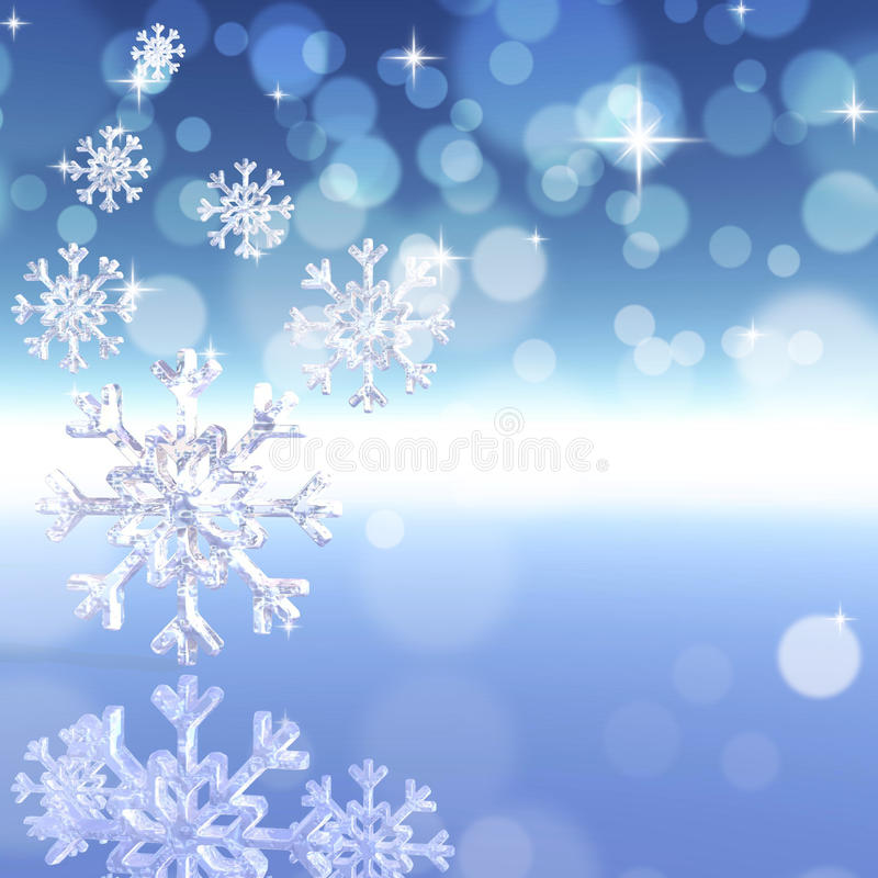 Achtergrond met sneeuwvlokken royalty-vrije illustratie