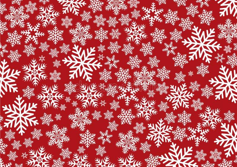 Achtergrond met sneeuwvlokken stock illustratie