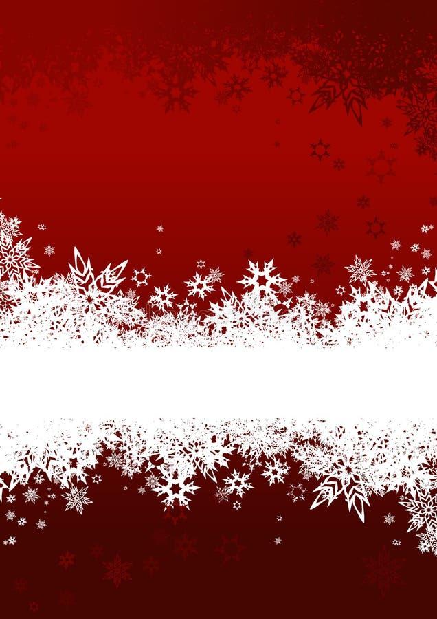 Achtergrond met sneeuwvlokken. Vector stock illustratie