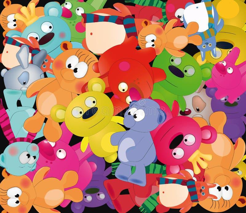 Achtergrond met speelgoed royalty-vrije illustratie