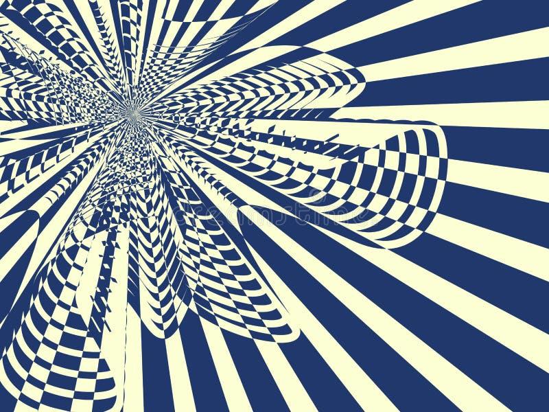 Achtergrond met stralen en boog vector illustratie