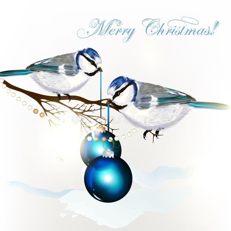 Achtergrond met vector gedetailleerde vogel stock illustratie