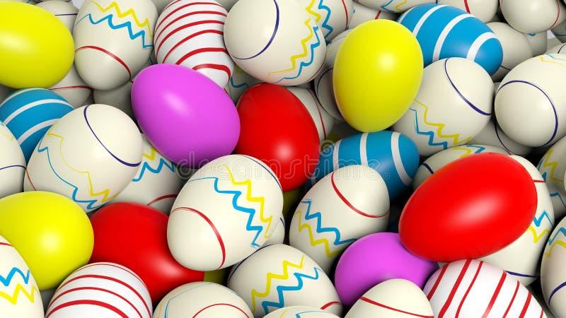 Achtergrond met vele eieren stock illustratie