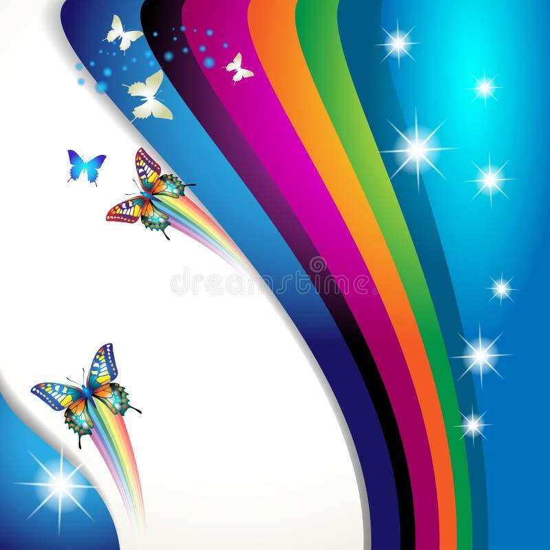 Achtergrond met vlinder royalty-vrije illustratie