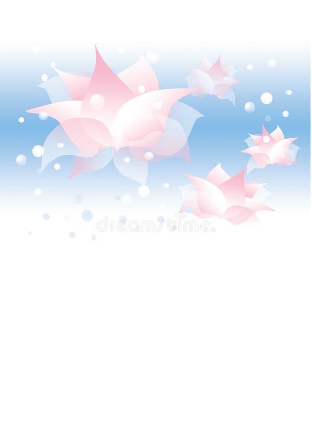 Achtergrond met waterbloemen stock illustratie