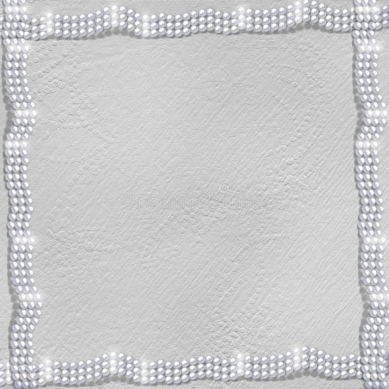 achtergrond met witte mooie parels royalty-vrije illustratie