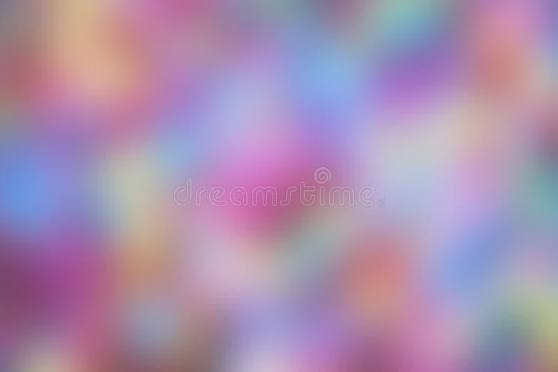 Achtergrond in onduidelijk beeld, multicolored voor behang, roze vlekken vector illustratie
