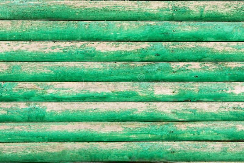 Achtergrond, raad, groen, oud, halve verfschil royalty-vrije stock foto