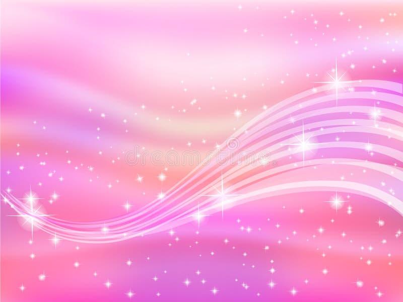 Achtergrond roze hemel ruimtester vector illustratie