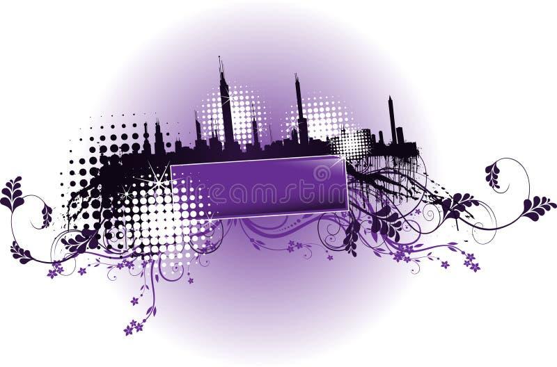 Achtergrond stadsvector royalty-vrije illustratie