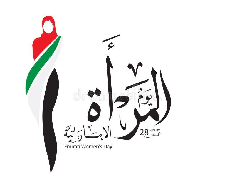 Achtergrond ter gelegenheid van de de Dagviering van Women's van de Emiraat vector illustratie