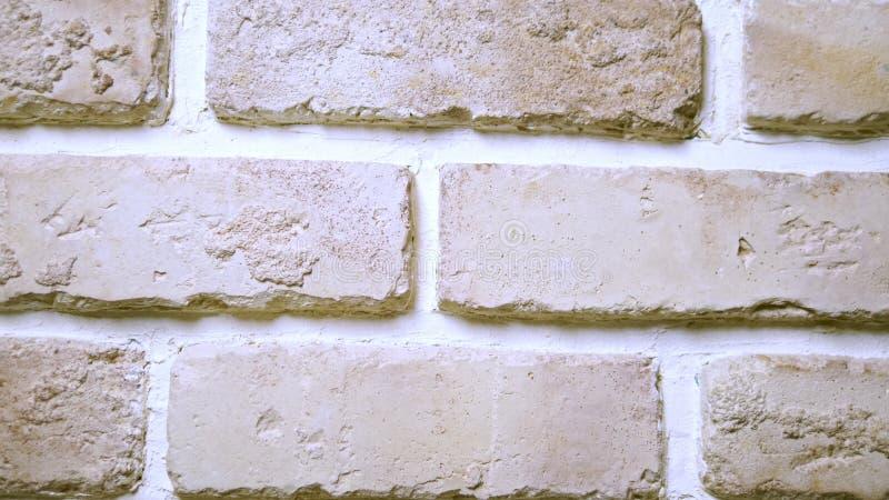 Achtergrond textuur beige-roze de stijlbakstenen muur van de baksteenzolder vector illustratie