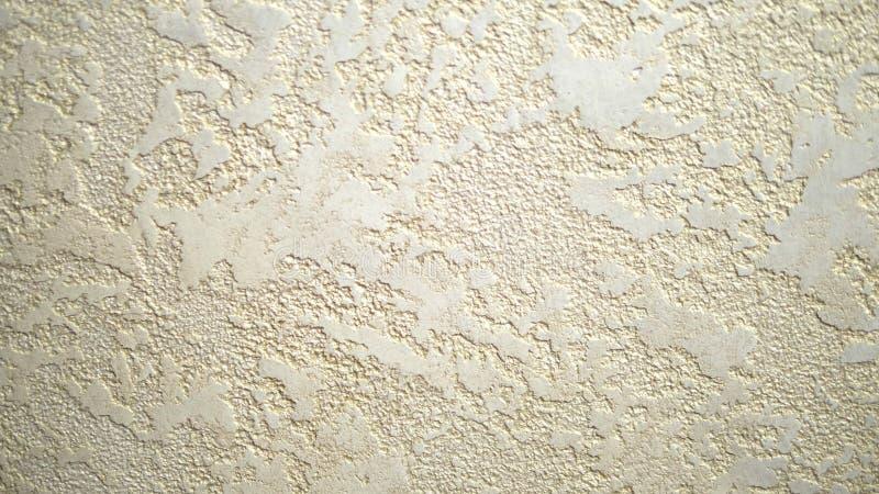 Achtergrond textuur decoratief geweven Venetiaans pleisterbeige Close-up stock illustratie