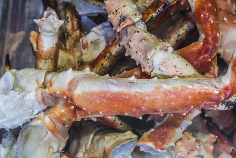 achtergrond of textuur Klauwen, zeekreeften Zeevruchten delicatesse Een schotel voor gourmets markt stock afbeeldingen