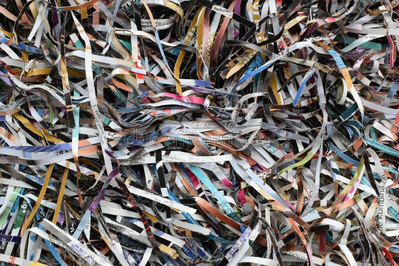 Achtergrond, Textuur Verscheurde document ontvezelmachinemachine stock fotografie