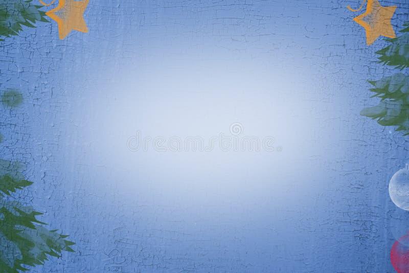Achtergrond, Textuur Wijnoogst, Kerstkaart royalty-vrije stock afbeelding