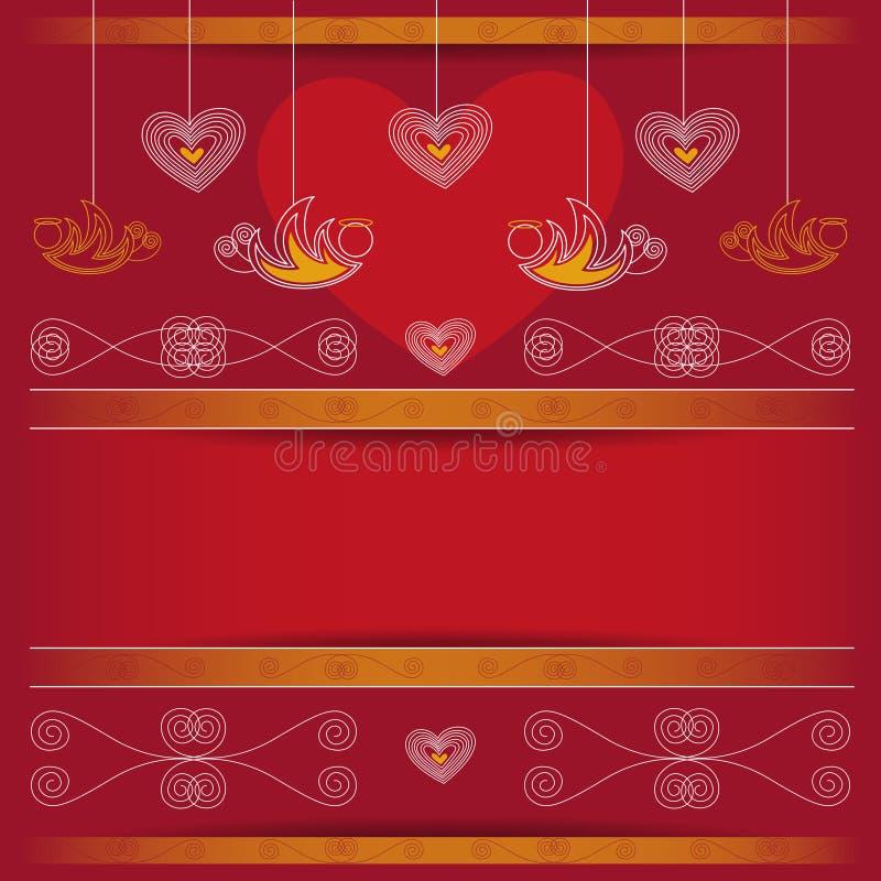 Achtergrond - Valentijnskaartendag stock illustratie