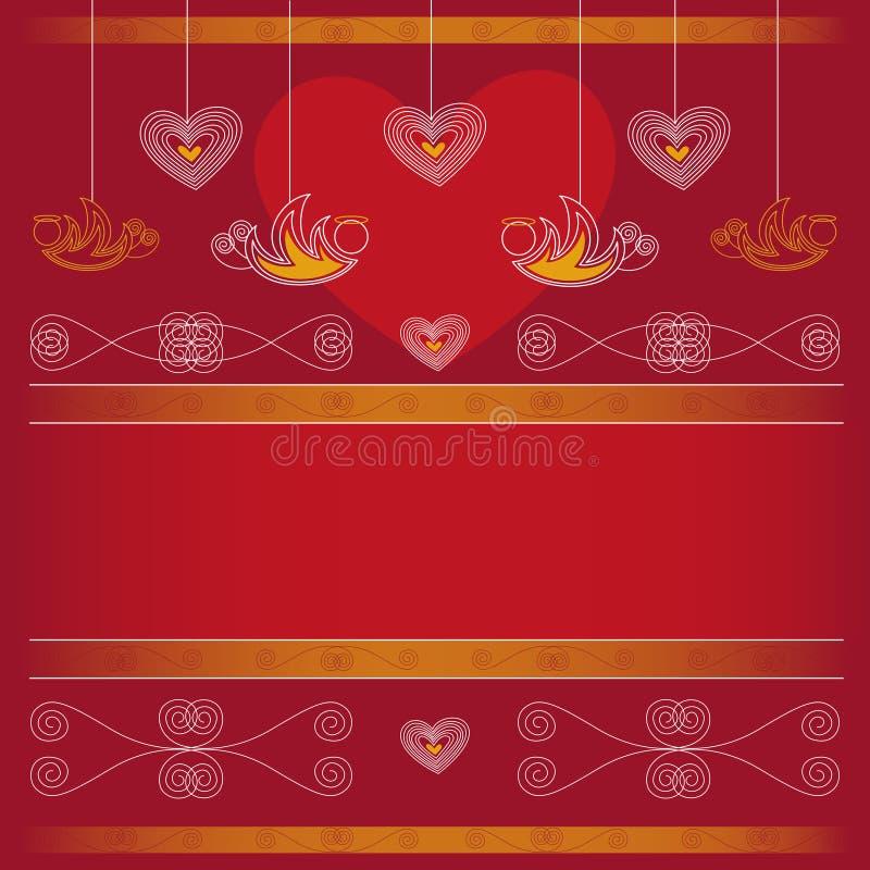Achtergrond - Valentijnskaartendag royalty-vrije illustratie