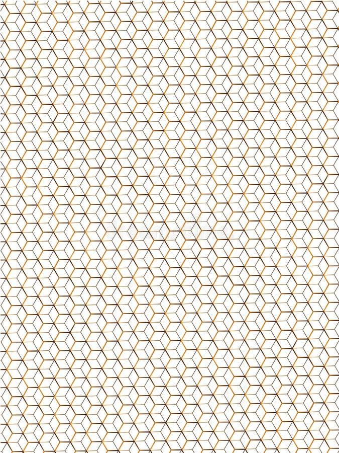 Achtergrond van bijenhoningraten van gouden kleur vector illustratie